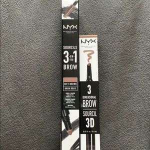 NWT - Set of NYX Eyebrow Pencils in Soft Brown